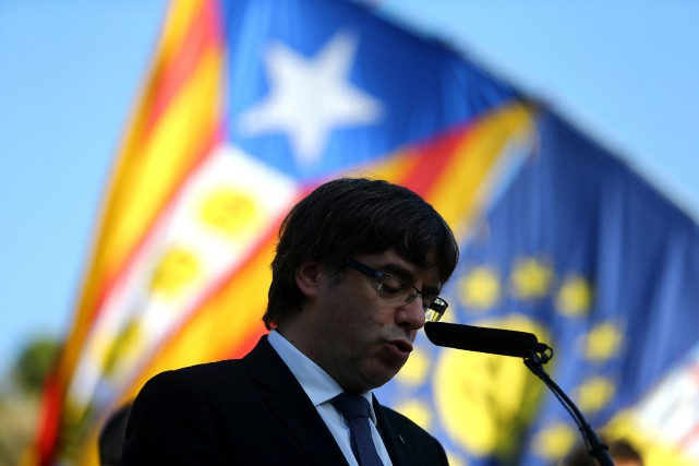 Carles Puigdemont... (Photo Ivan Alvarado, Reuters)
