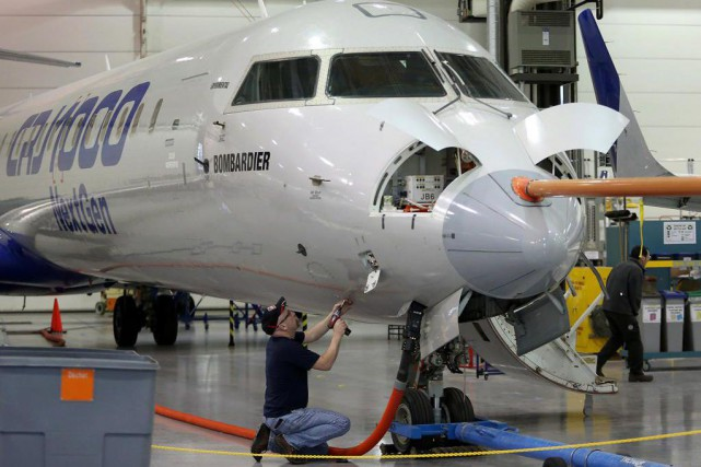 Les avions régionauxCRJ de Bombardier sont assemblés à... (PhotoPatrick Doyle, archives Bloomberg)