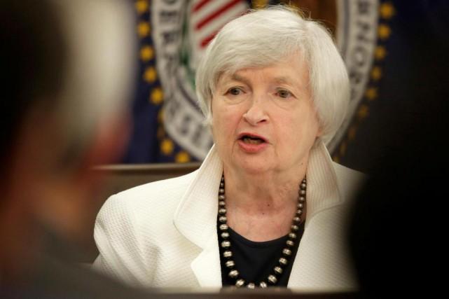 Janet Yellen, présidente de la Réserve fédérale américaine... (PhotoJoshua Roberts, Reuters)