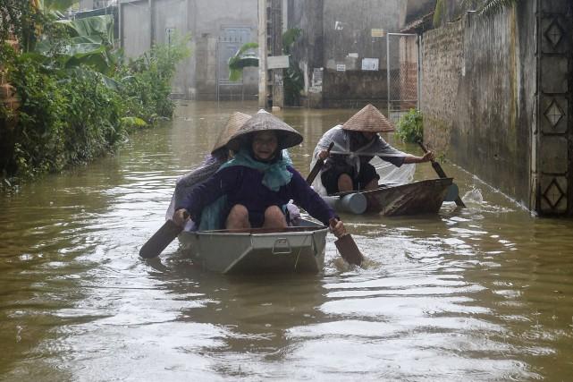 Dans les provinces du nord et du centre... (Photo HOANG DINH NAM, AFP)