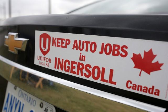 La grève à l'usine General Motors d'Ingersoll, en... (Photo Chris Helgren, REUTERS)