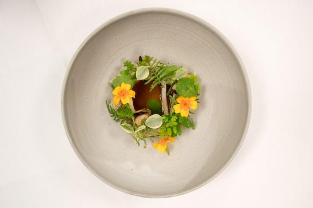 Le plat gagnant du chef Benjamin Mauroy-Langlais.... (Photo fournie par San Pellegrino)