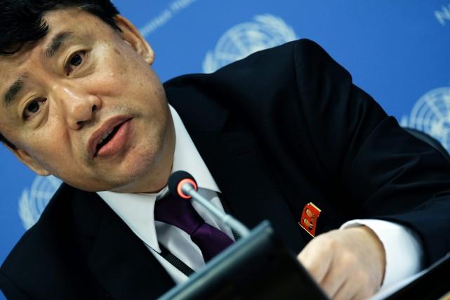 L'ambassadeur adjoint de la Corée du Nord à... (PHOTO AFP)