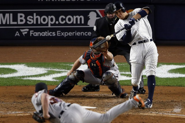 Le circuit de trois points d'Aaron Judge.... (PHOTO REUTERS)