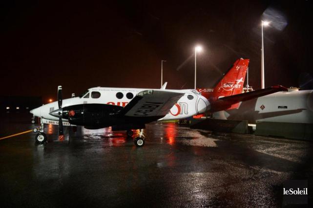 Jeudi dernier, un drone a percuté cet avion... (Photo Jean-Marie Villeneuve, archives Le Soleil)