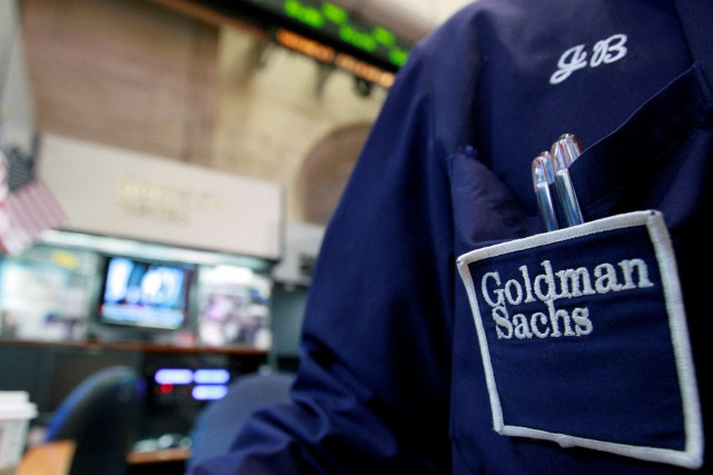 FILE PHOTO: A trader works at the Goldman... (REUTERS)