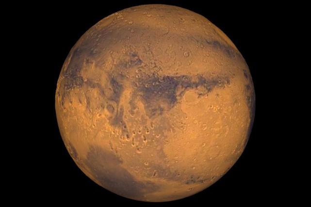 Image non datée de la planète Mars... (IMAGE Fournie par la NASA)