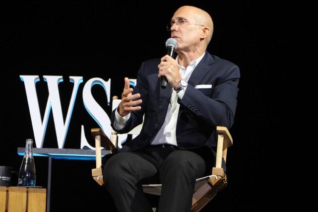 Jeffrey Katzenberg,l'une des principales personnalités d'Hollywood, participait à... (PHOTO AFP)