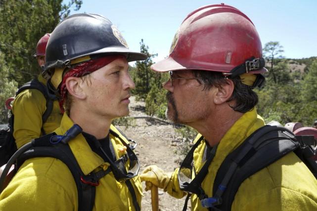Miles Teller et Josh Brolin dans une scène... (Photo fournie par Sony Pictures)