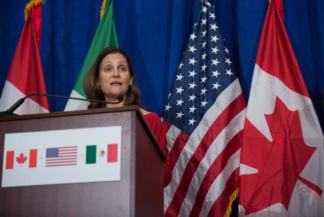 La ministre canadienne des Affaires étrangères, Chrystia Freeland,... (PHOTO REUTERS)