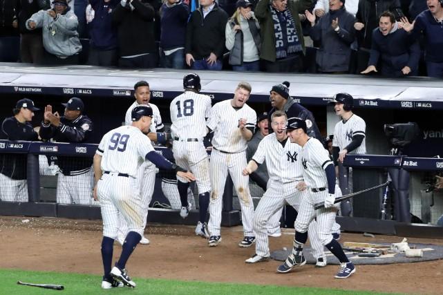 Les Yankees ont surmonté trois erreurs en défensive... (Photo Anthony Gruppuso, USA Today Sports)