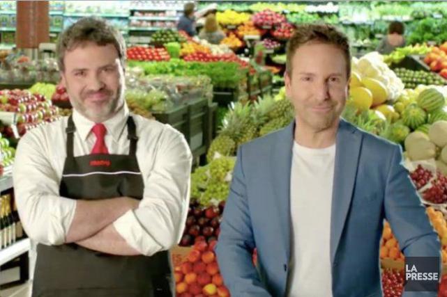 Eric Salvail dans une publicité de Metro... (Capture d'écran, La Presse)