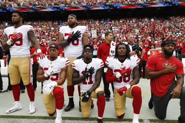 L'épineuse question des protestations des joueurs de la... (Photo Alex Brandon, AP)