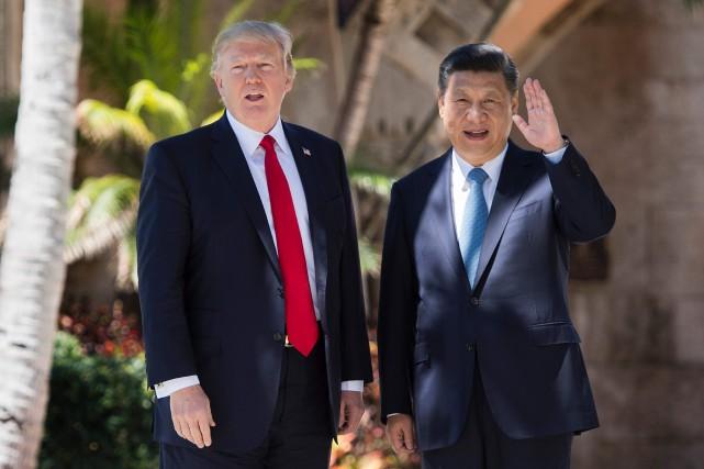 Donald Trump a accueilli son homologue chinoisXi Jinping... (ARCHIVES AFP)