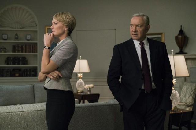 Robin Wright et Kevin Spacey dans House of... (Photo fournie par Netflix)