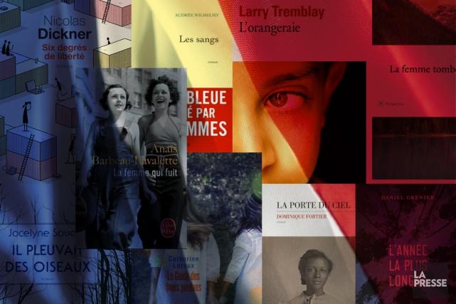 Les auteurs québécois sont de plus en plus nombreux à atterrir dans les... (Photomontage La Presse)