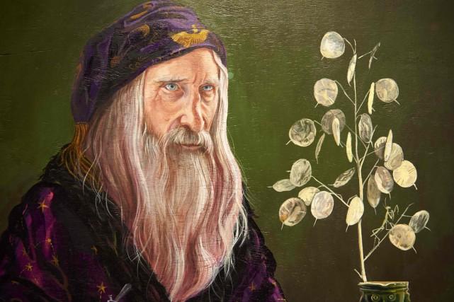 Une peinture du professeur Dumbledore dans le cadre... (PHOTO AFP)