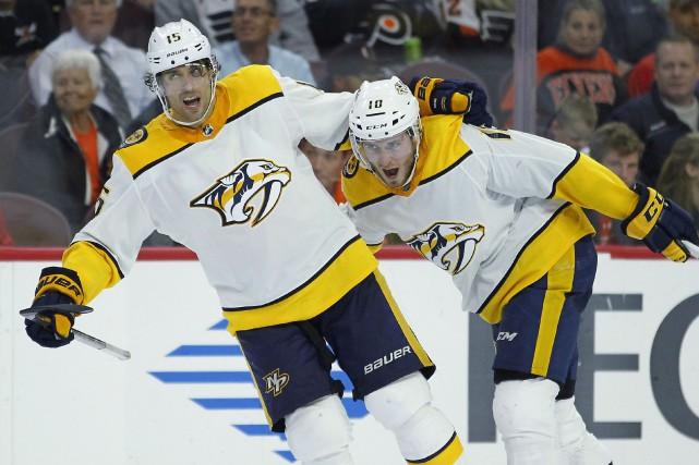 Pekka Rinne a réalisé 28 arrêts, Colton Sissons a trouvé le fond du filet en... (PHOTO AP)