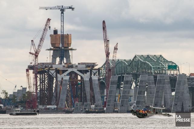 Lechantier de construction du nouveau pont Champlain.... (Photo Martin Tremblay, archives La Presse)