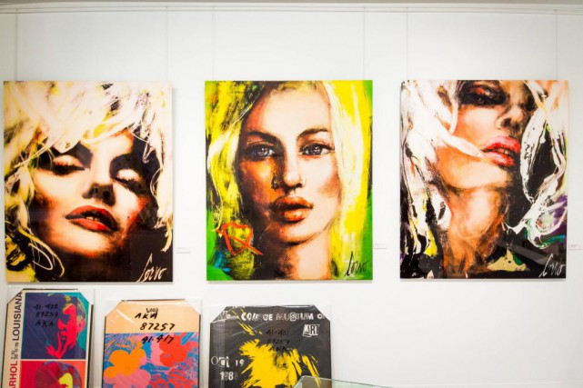 Avant le vernissage de l'exposition Corno&Warhol, trois impressions... (Photo Olivier PontBriand, La Presse)