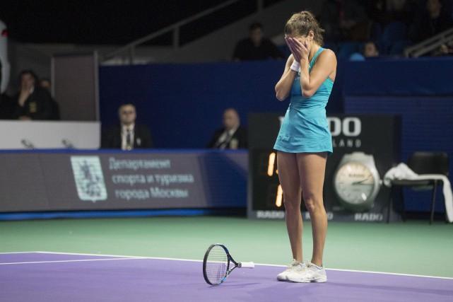 Julia Goergesmontre un dossier de 3-7 en carrière... (Photo Pavel Golovkin, AP)