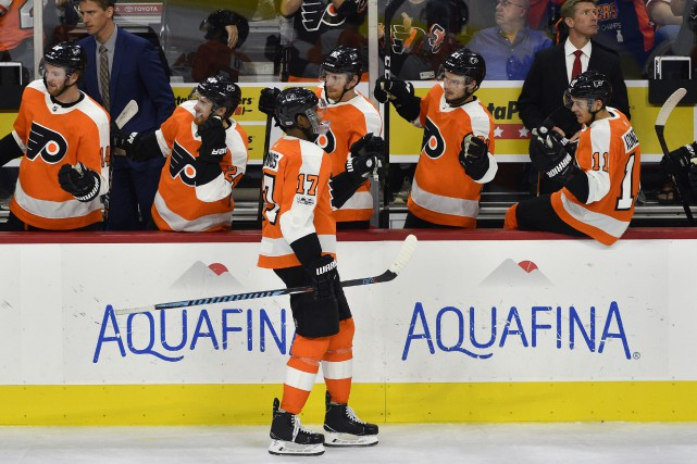 But gagnant pour Wayne Simmonds.... (Photo Derik Hamilton, USA TODAY Sports)