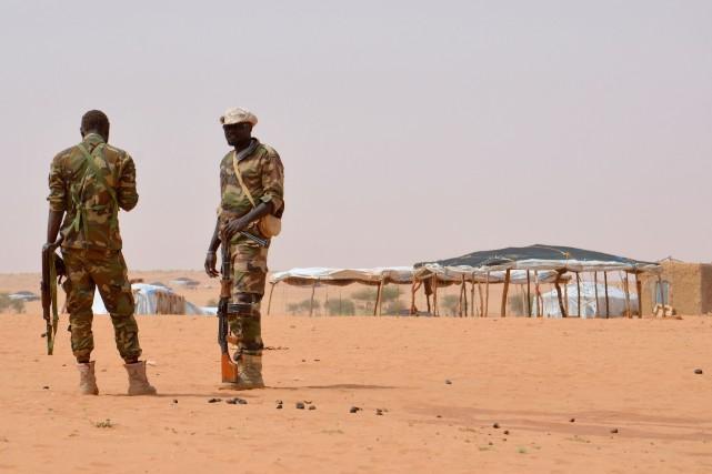 Les membres de la Brigade de gendarmerie d'Ayorou... (AFP)