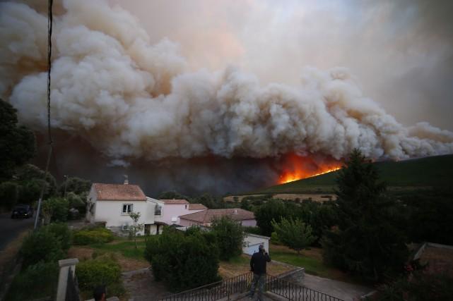 À Nonza, village situé tout près de Bastia,... (Photo PASCAL POCHARD-CASABIANCA, AFP)