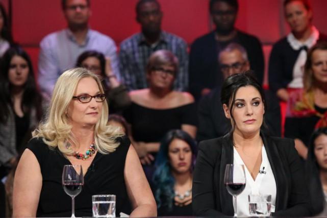 Les journalistes de La Presse Katia Gagnon et... (Photo fournie par ICI Radio-Canada)