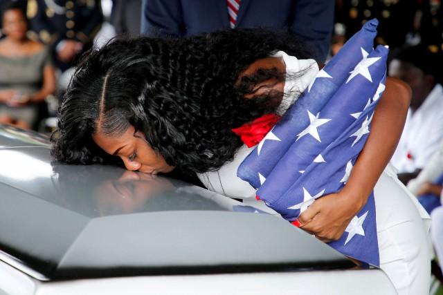Myeshia Johnson, femme du sergent La David Johnson,... (PHOTO REUTERS)