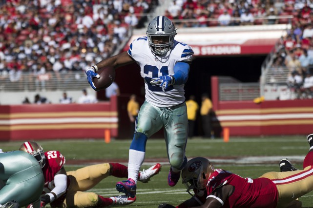 Ezekiel Elliott... (Photo Kyle Terada, USA Today Sports)