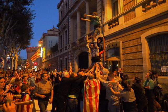 Des manifestations sont organisées régulièrement à Perpignan au... (Photo RAYMOND ROIG, AFP)
