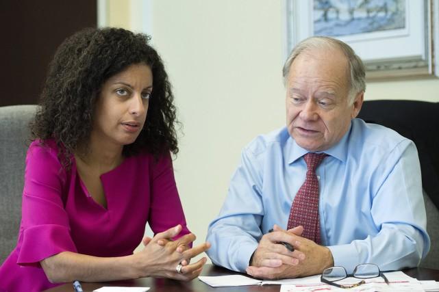 La ministre de l'Économie, Dominique Anglade, etle négociateur... (PHOTO GRAHAM HUGHES, ARCHIVES LA PRESSE CANADIENNE)