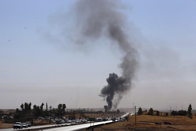 Le 16 octobre, «au moins 11 civils ont... (AP)