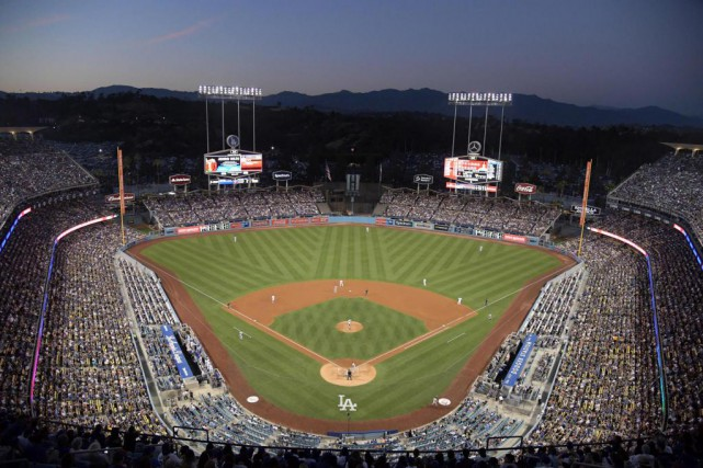 Le Dodger Stadium de Los Angeles accueillera ce... (Photo Kirby Lee, archives USA TODAY Sports)