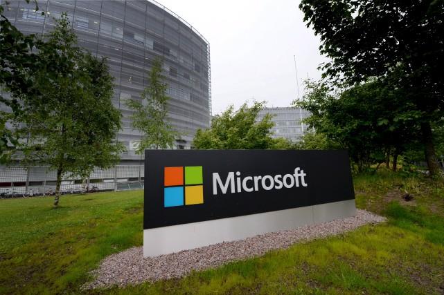 Microsoft avait lancé ses poursuites judiciaires en avril... (REUTERS)