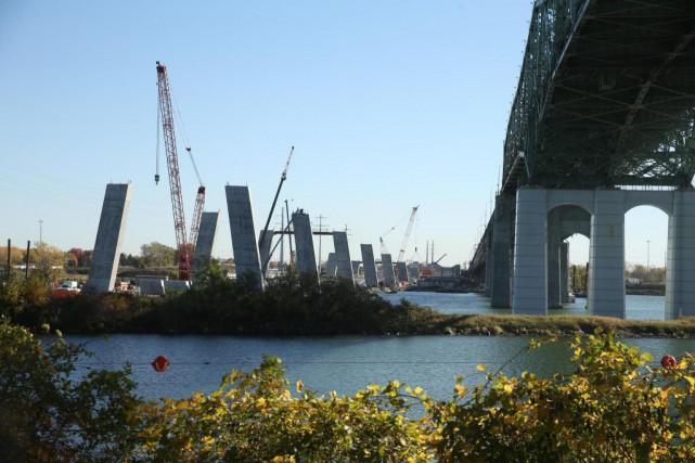La construction du nouveau pont Champlain a fait... (Photo Martin Chamberland, La Presse)