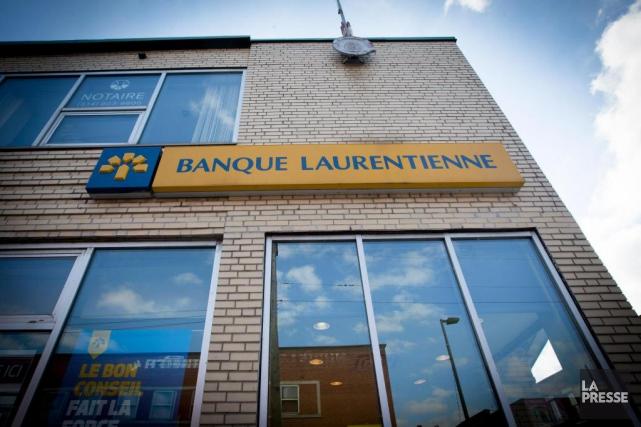 Plusieurs succursales de la Banque Laurentienne - la... (Photo Olivier Jean, Archives La Presse)