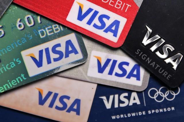 Le titre de Visa est en hausse de... (AP)