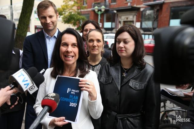 Valérie Plantea dévoilé mercredi un Plan commerce en... (Photo Martin Chamberland, La Presse)