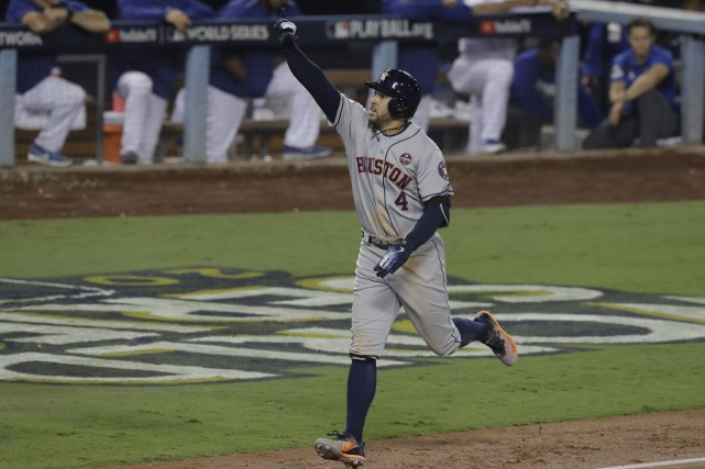 George Springer... (Photo Alex Gallardo, Associated Press)