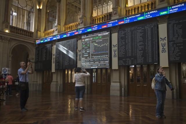La Bourse de Madrid... (AP)