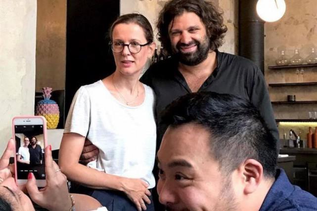 Souriez! Au l'avant-plan, David Chang, le chef derrière... (Photo tirée de la page Facebook de«Gelinaz! does Upper Austria»)