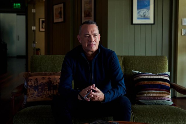 L'acteur Tom Hanks vient de publier un recueil... (Photo Jake Michaels, The New York Times)