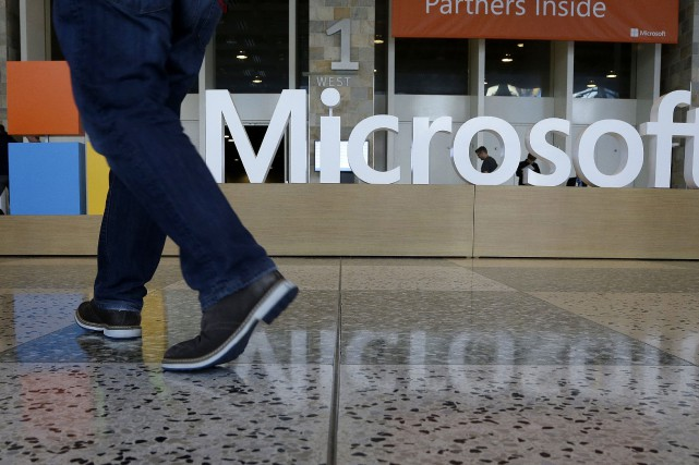 Microsoft a dégagé un bénéfice net en progression.... (PHOTO JEFF CHIU, ARCHIVES ASSOCIATED PRESS)