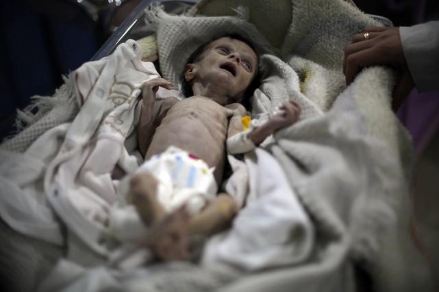 Le 21octobre, l'AFP a publié la photo d'un... (PHOTO AMER ALMOHIBANY, AGENCE FRANCE-PRESSE)
