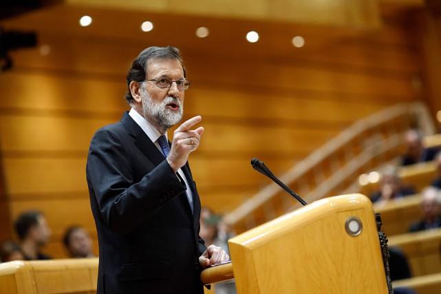 Le chef du gouvernement espagnol Mariano Rajoy a... (PHOTO OSCAR DEL POZO)