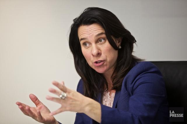 La cheffe de Projet Montréal, Valérie Plante.... (Photo André Pichette, La Presse)