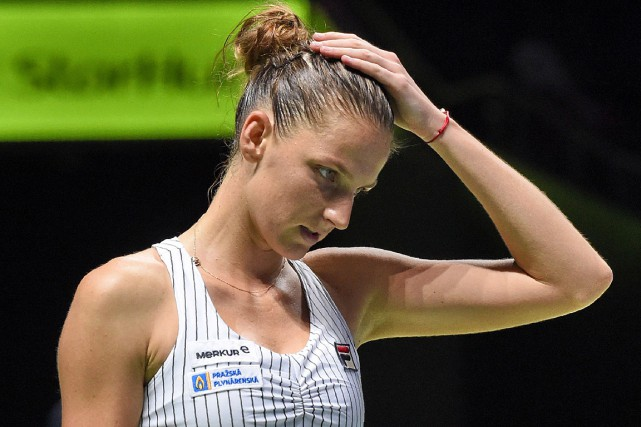 Karolina Pliskova a été battue par Caroline Wozniacki... (PHOTO ROSLAN RAHMAN, AGENCE FRANCE-PRESSE)