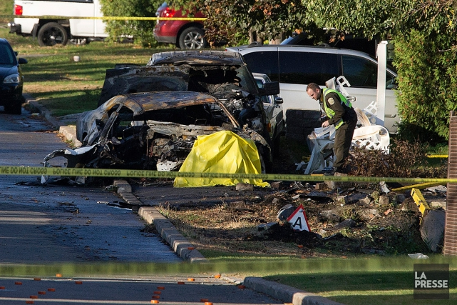 L'accident est survenu sur le boulevard Veteran,à Kahnawake.... (PHOTO ROBERT SKINNER, ARCHIVES LA PRESSE)